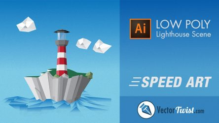 Create a Low Poly Lighthouse Scene in Illustrator – Speedart