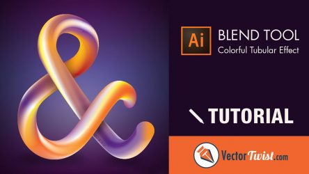 Illustrator Blend Tool – How to Create a Colorful Tubular Effect