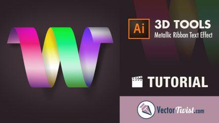 Create a Metallic Ribbon Text Effect in Adobe Illustrator CC