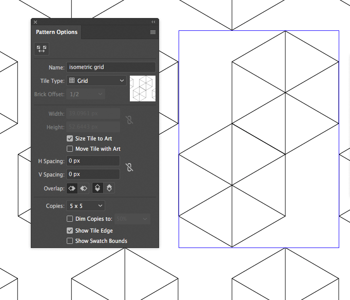 Isometric Grid Pattern in Adobe Illustrator - How to Create