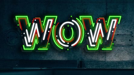 Neon Text Effect with Illustrator's Appearance Panel