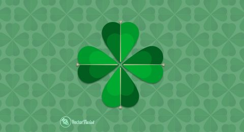 How to Create a Four Leaf Clover with Shapes in Illustrator
