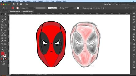 Icon Creation in Illustrator – How To Draw Deadpool