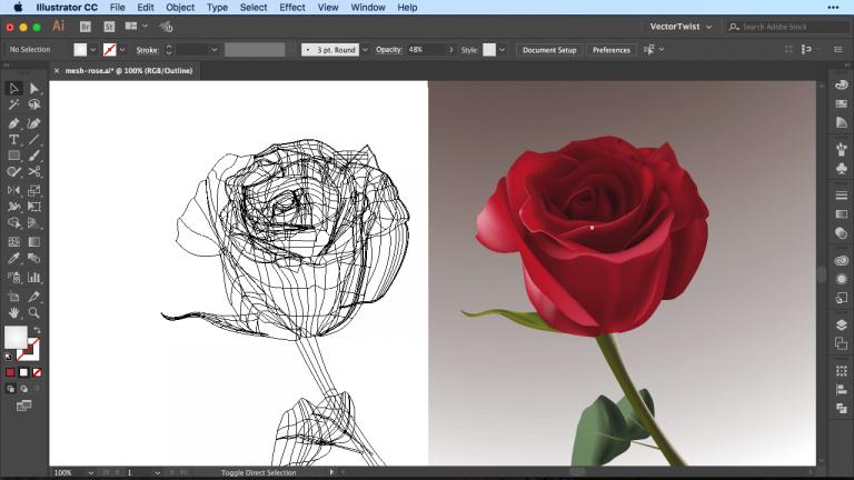 Gradient Mesh Illustrator CC