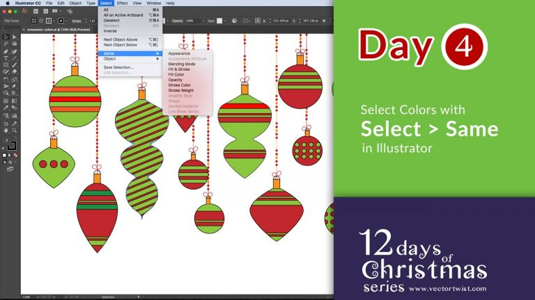 Select Similar Colors or Objects in Illustrator