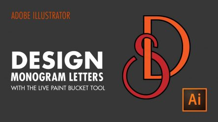 How to Design Monogram Letters with the Live Paint Bucket Tool in Adobe Illustrator CC