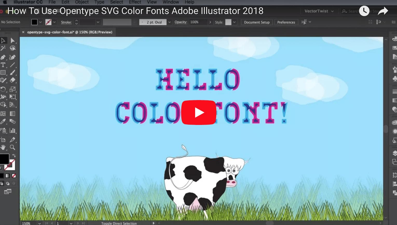 Opentype Svg Color Fonts Vectortwist Simona Pfreundner