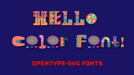 OpenType SVG Color Fonts