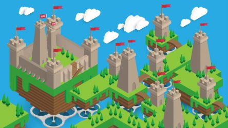 Speedart – Isometric Castle Tower in Adobe Illustrator