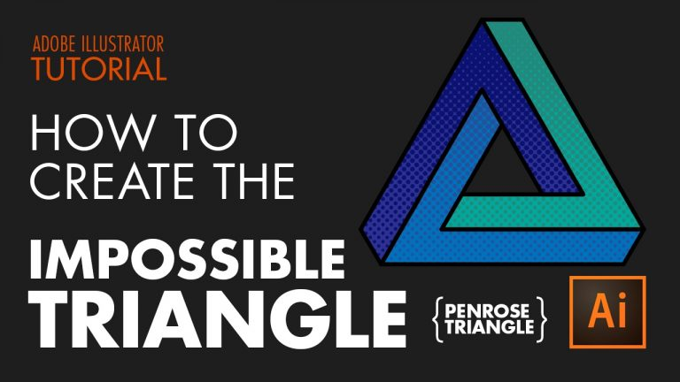 how to create the impossible triangle penrose in Illustrator