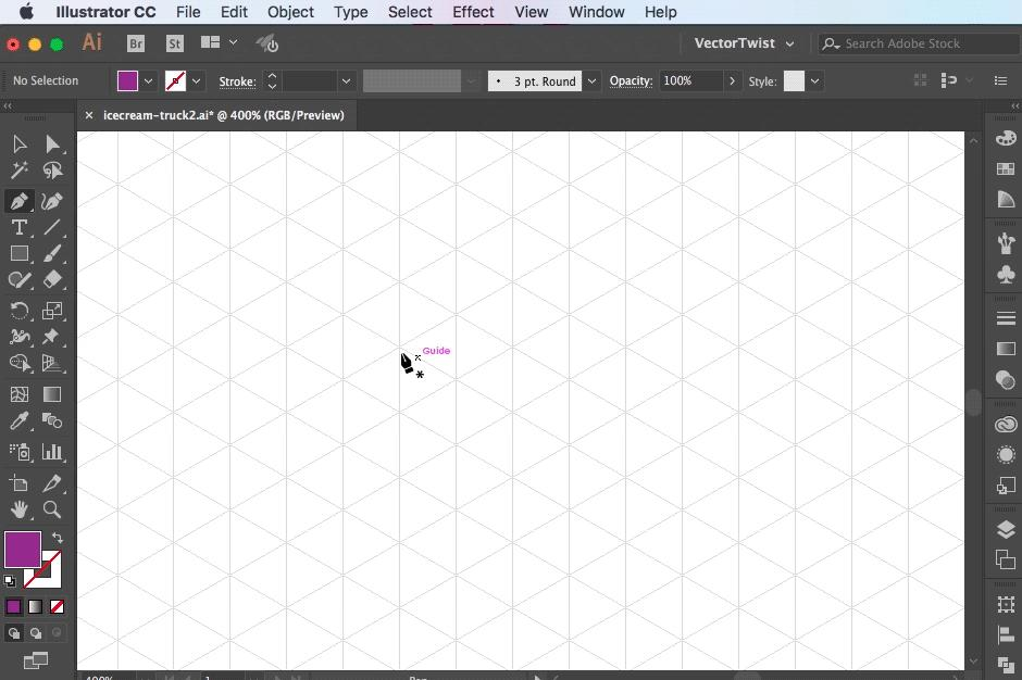 Using Rounded Corners in Illustrator for Isometric Art