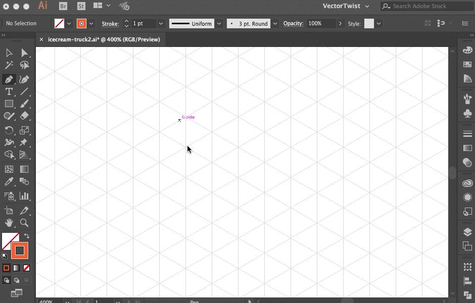 Using an Isometric Grid In Illustrator - Smart Guides