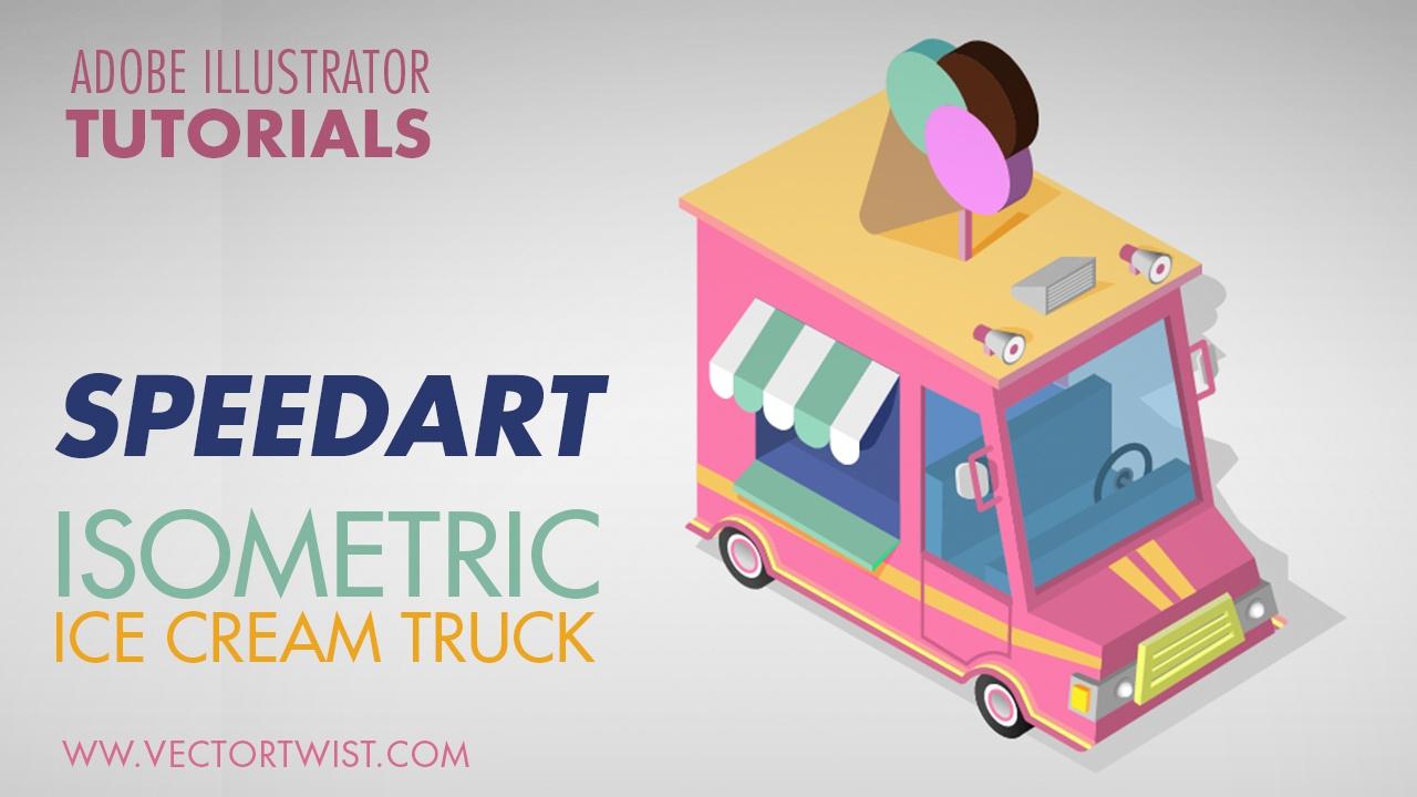 Isometric Ice Cream Truck