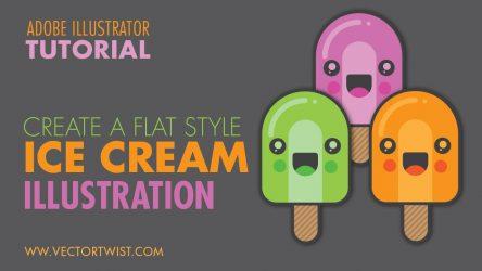 Create a Flat Style Ice Cream Illustration in Illustrator