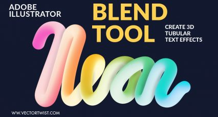 BLEND TOOL – Create Tubular Effects (Adobe Illustrator Video Tutorial)