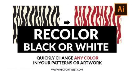 Recolor Artwork Tool in Adobe Illustrator