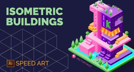 Isometric Buildings Speed Art