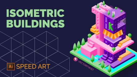 Isometric Buildings Speed Art