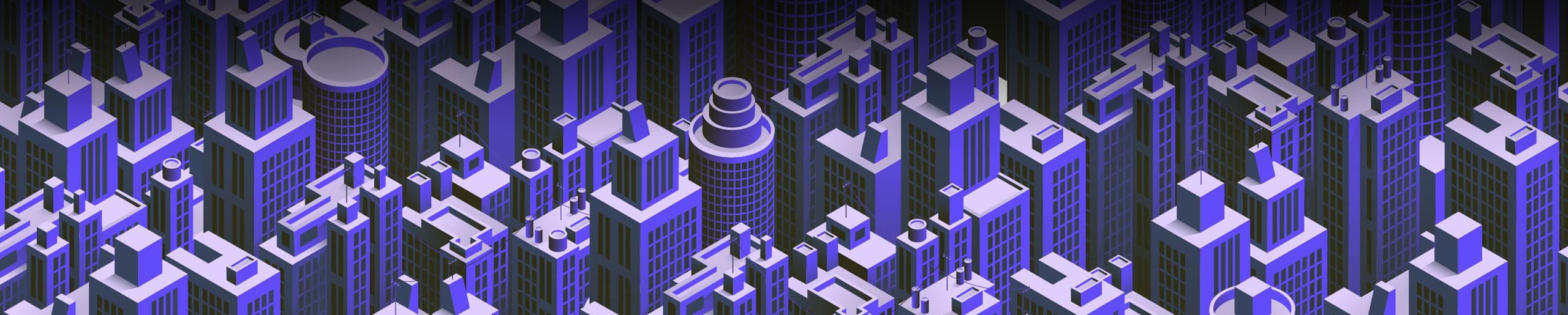 Isometric Round City Building