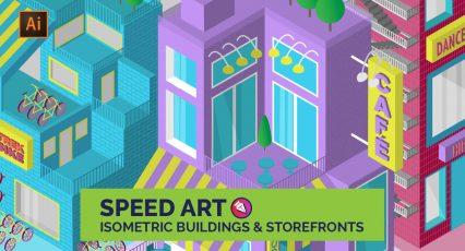 Create Isometric Buildings and Storefronts / Speedart