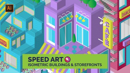 Create Isometric Buildings and Storefronts / Speedart