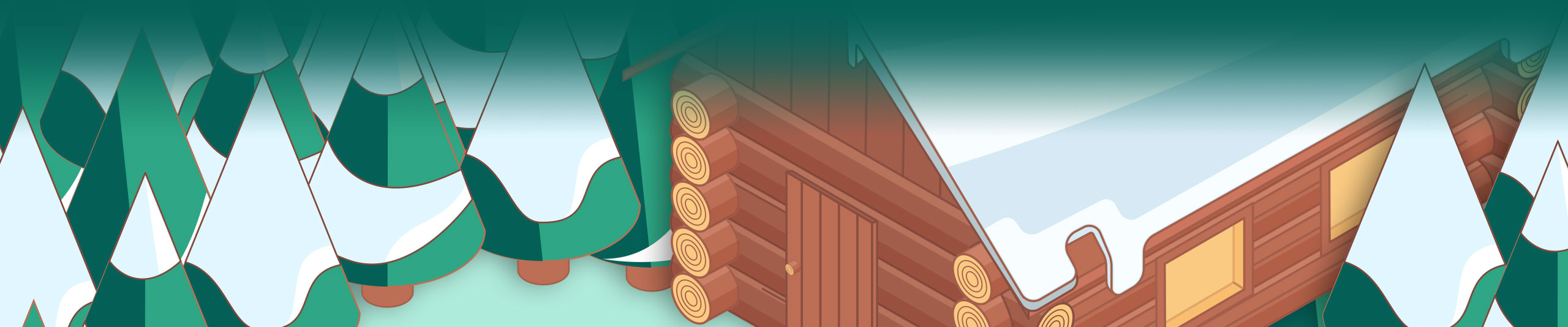 Isometric Illustrator Speed Art – Log Cabin